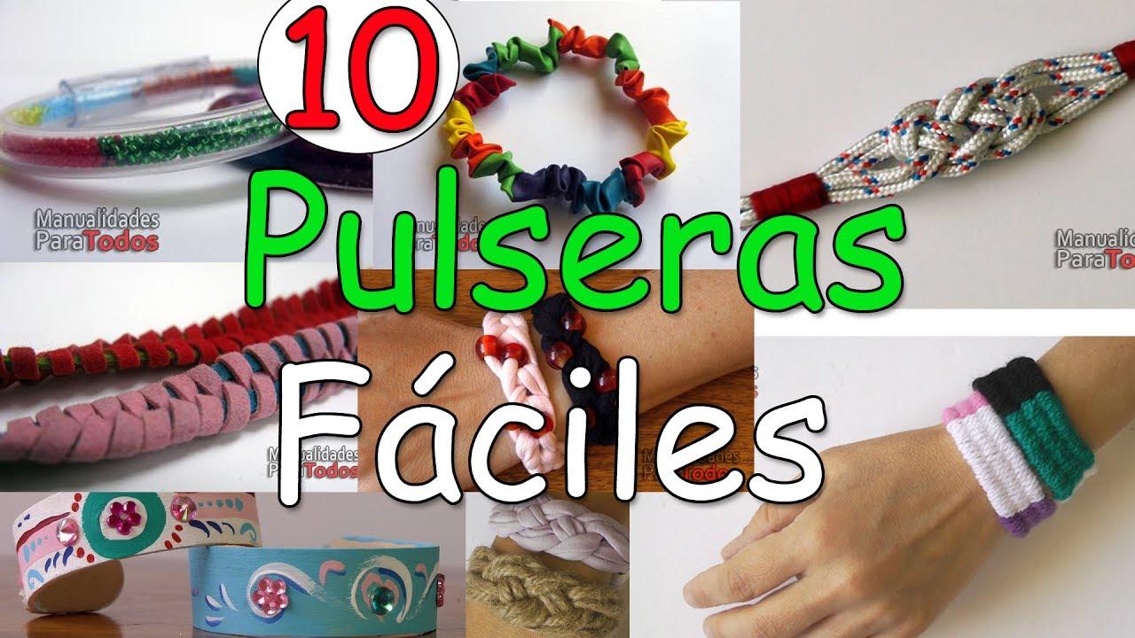 10 Pulseras Faciles De Hacer Manualidades Para Todos Youtube - Que-manualidades-puedo-hacer