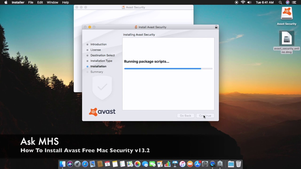 Installing Avast Free Mac Security v13 2 macOS High Sierra For Free