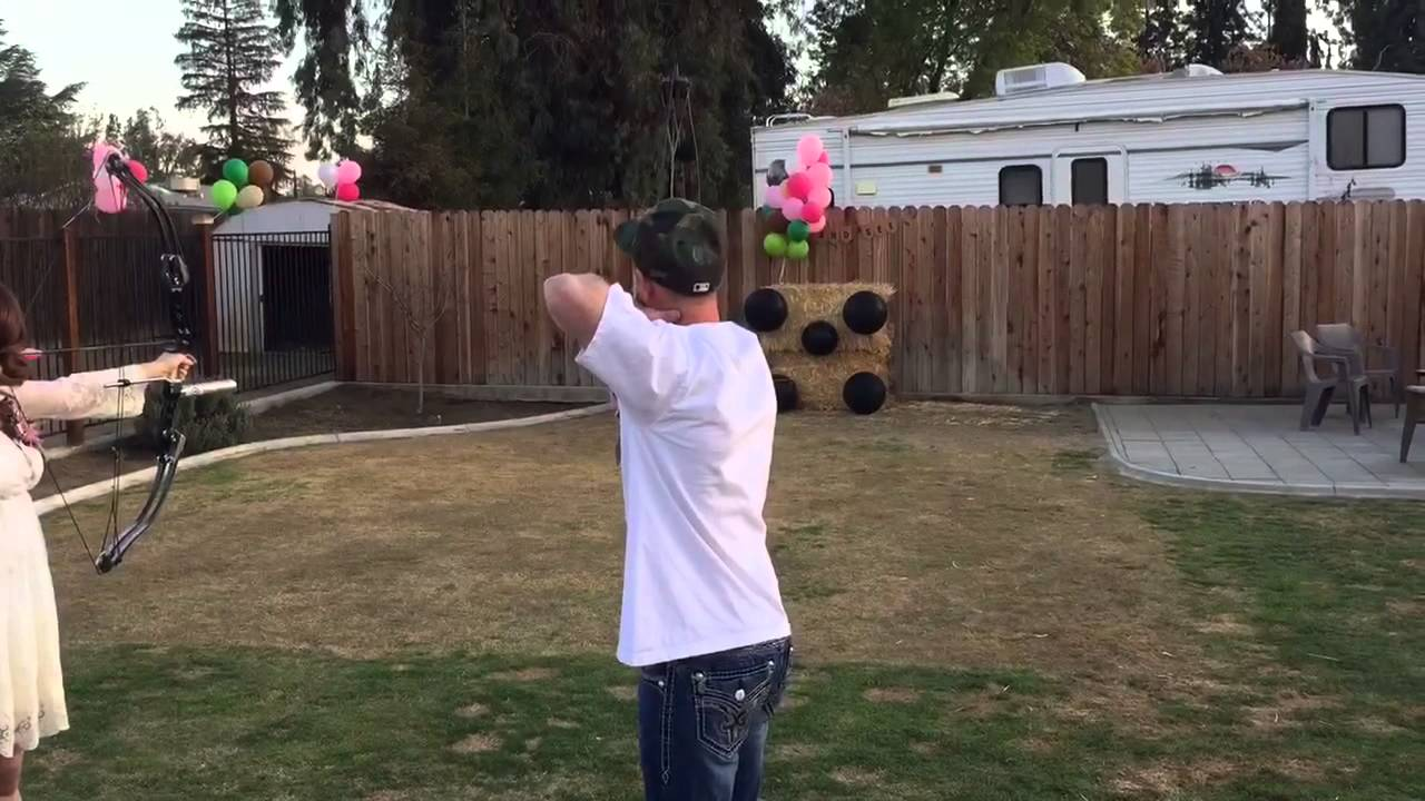our gender reveal bow and arrow youtube