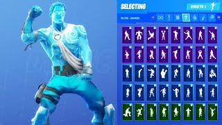 FROZEN LOVE RANGER SKIN SHOWCASE WITH ALL FORTNITE DANCES & EMOTES
