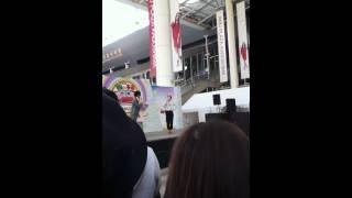 鹿児島中央駅に来た福田彩乃のライブ。