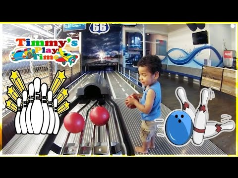 Mini Bowling by Timmy's Playtime + Splash Pad Play Area for Kids
