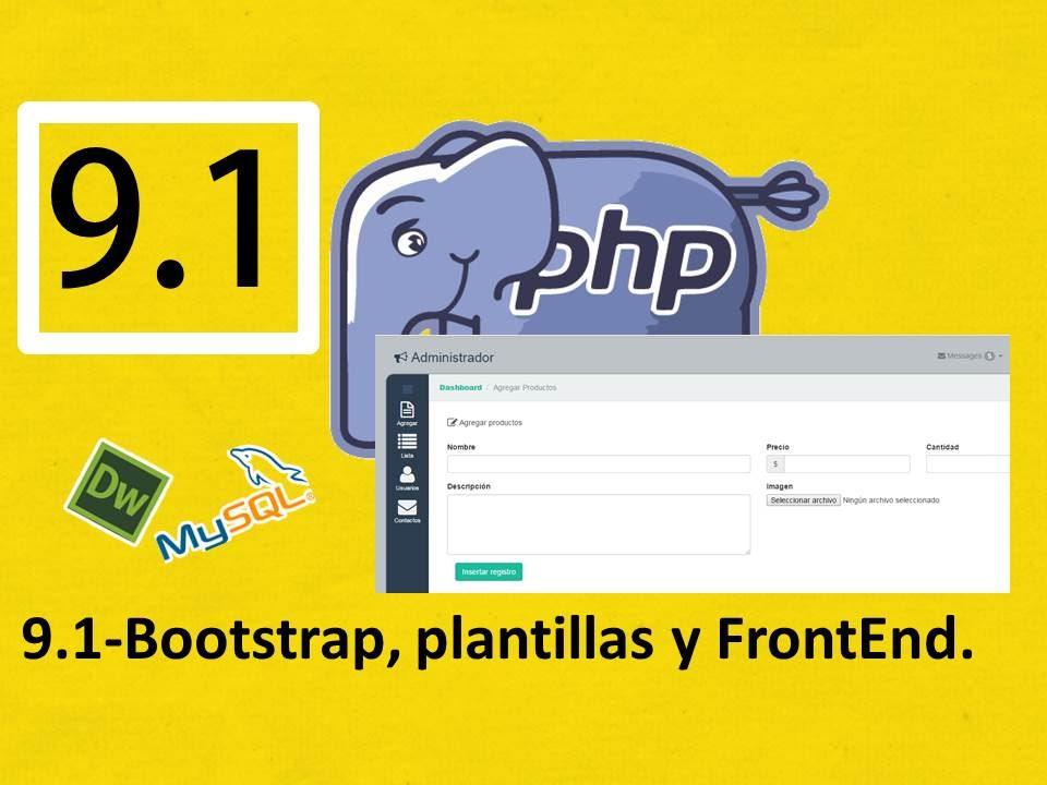 9.1.-Php, Mysql y Dreamweaver (Rápido):Bootstrap y plantillas ...