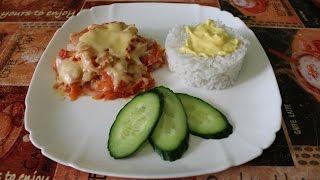 минтай в томатном соусе  рецепт для микроволновки