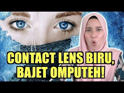Contact Lens Biru, Bajet Omputeh!