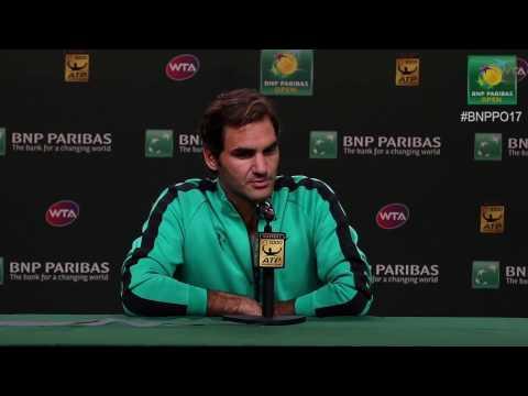 BNP Paribas Open 2017: Roger Federer SF Press Conference
