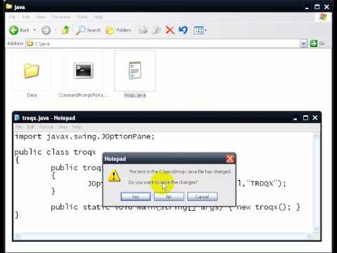 Write JAVA Code & Create JAR File Without Using IDE