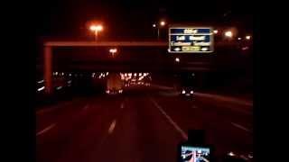 Kierowca ciężarówki,Ring Antwerpen nocą (white arrow)