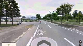 Google ストリートビュー車が速度違反で捕まる瞬間.