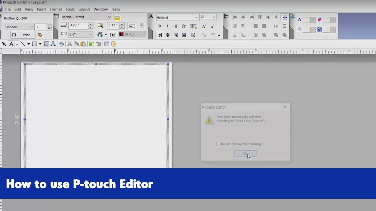 How To Utilize P Touch Editor Brother Ql 800 Series Label Printers Youtube