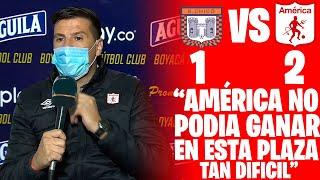Declaraciones De Juan Cruz Real Luego De La Victoria Del América de Cali 2 - 1 Boyacá Chico