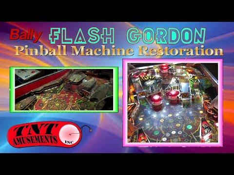 #1093 Bally FLASH GORDON Restoration & Williams HURRICANE -TNT Amusements