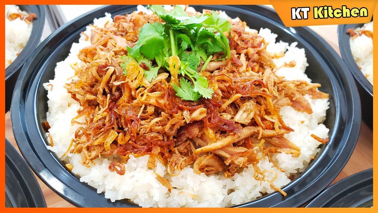 XÔI GÀ XÉ – Bí Quyết Nấu Xôi Gà Dẻo Thơm Ngon Để Kinh Doanh – Shredded Chicken Over Sweet Rice