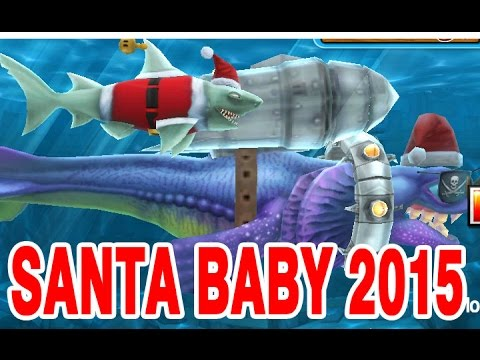 Hungry SHark Evolution Santa Baby 2015 Gameplay with Alan in Christmas Arctic Land