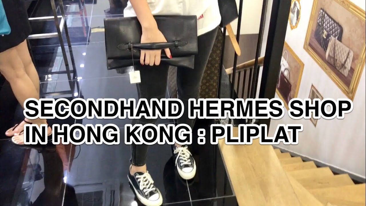 SECONDHAND HERMES SHOP IN HONG KONG   PLIPLAT CLUTCH - YouTube 4e1b5df3fa17c