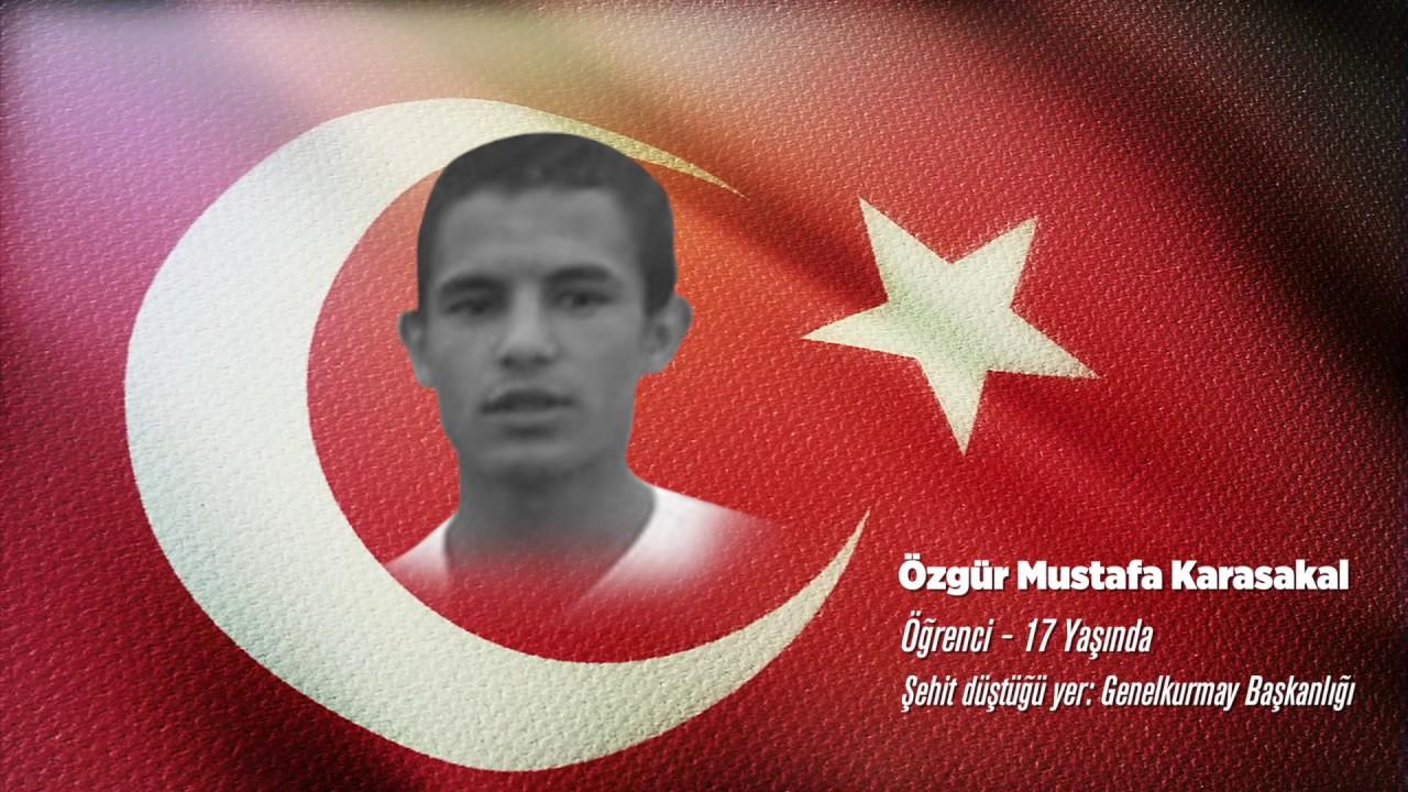 15 Temmuz Şehidi Özgür Mustafa Karasakal