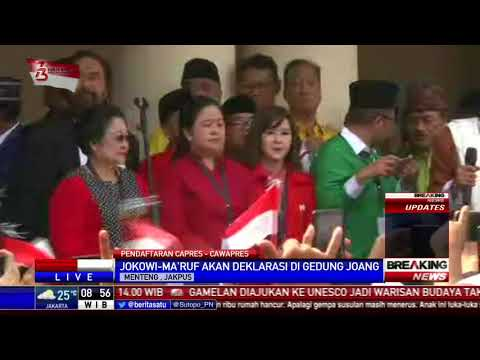Lagu Indonesia Raya Membuka Deklarasi Jokowi-Ma'ruf di Gedung Joang
