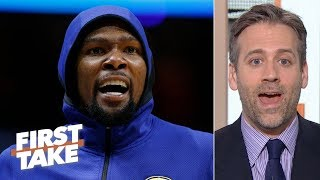 Kevin Durant\'s injury could wind up benefiting the Warriors\' future - Max Kellerman | First Take