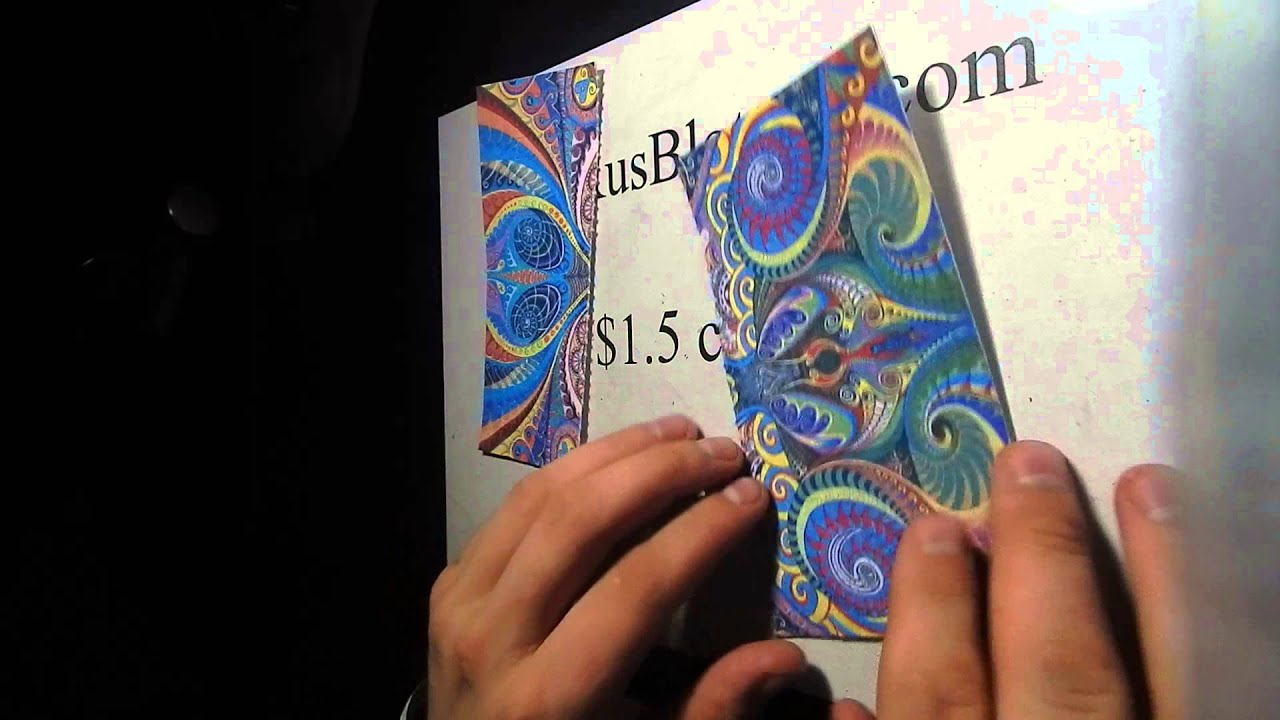 1 5 usd paper psychedelic blotter art acid free youtube