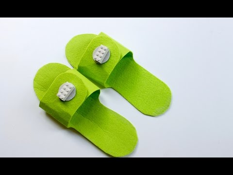 Easy craft: How to make DIY Lego slippers