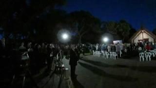 RNZ360: Protest at Upper Marae dawn service