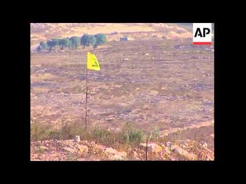 Israelis shoot into Lebanon; Village of Maroun al-Ras on Israeli - Lebanon border