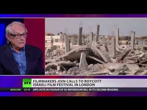 'As long as Israel massacres Palestinians' Ken Loach