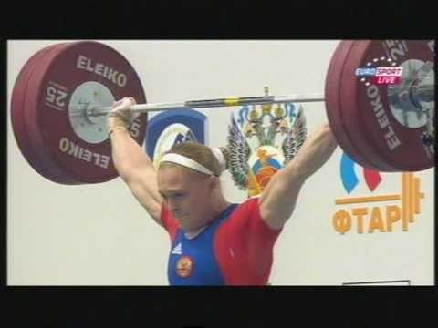 Weightlifting.European Championships 2011.69 Kg.Snatch.Tatiana Matveeva U0026 Oxana Slivenko.mpg