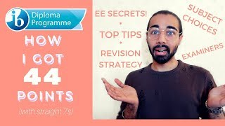 HOW I GOT 44 IB POINTS (straight 7s!) | TIPS & ADVICE | THIS IS MANI