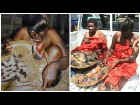 Two alleged WITCHES caught red-handed with fetish items in Zimbabwe [Watch Video] thumbnail