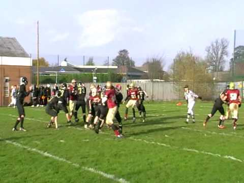 Nottingham Outlaws vs. Loughborough Aces TD Pass Si Denning to Rich Jackson
