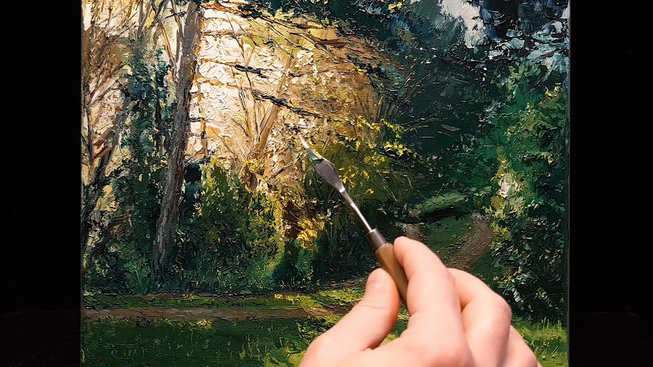 Magical Light - Palette Knife   Brush Oil Painting