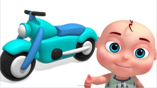 Motorcycle Assembly Video | Vehicle Construction For Kids | Videos For Toddlers
