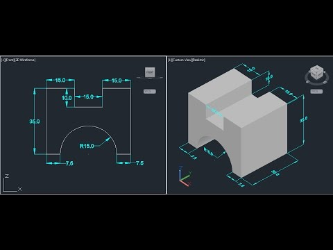 AutoCAD 3D modeling on cad software for beginners 3