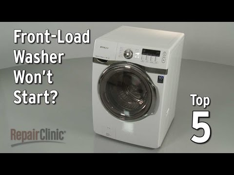 Top 5 Reasons Front-Load Washer Won't Start?