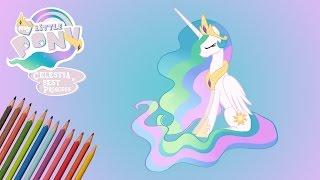 как рисовать Принцессу Селестию