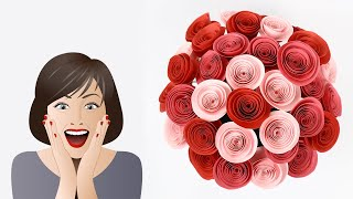 DIY Rose Paper Flowers | Crepe Paper Rose Flower Tutorial | How To Make Rose Paper Flowers
