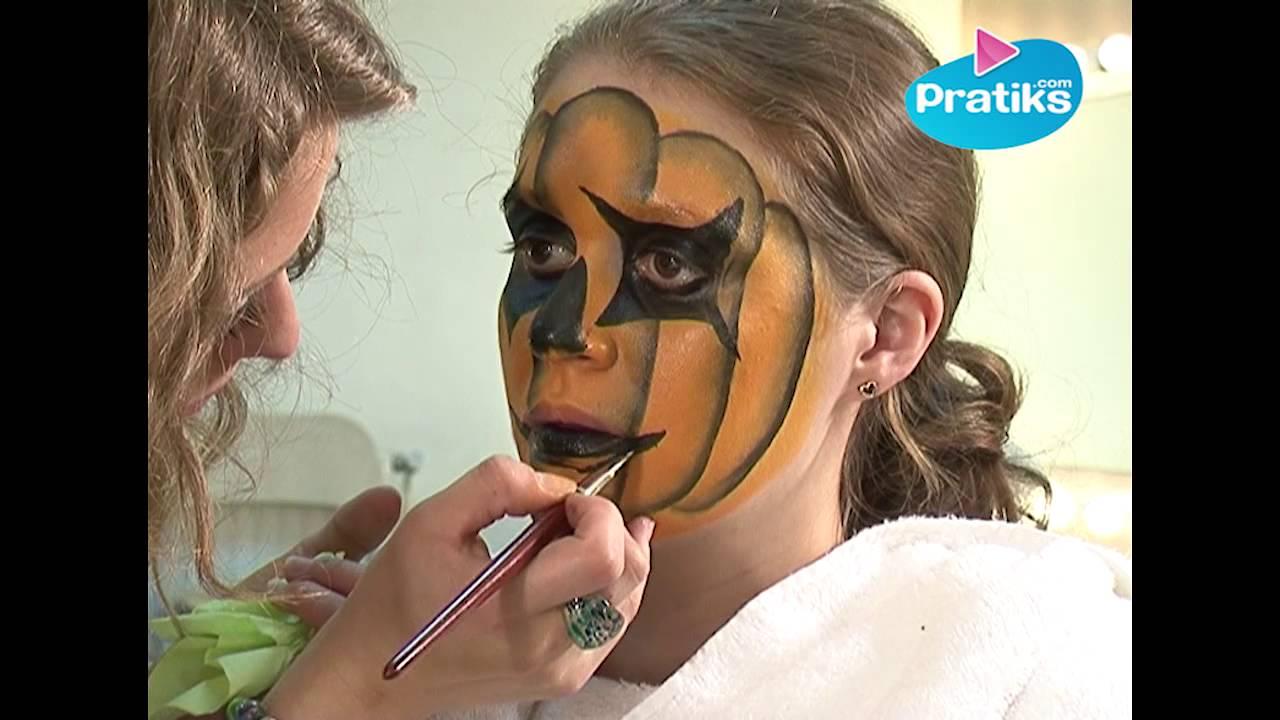 Maquillaje y disfraz para fiesta : La calabaza - YouTube