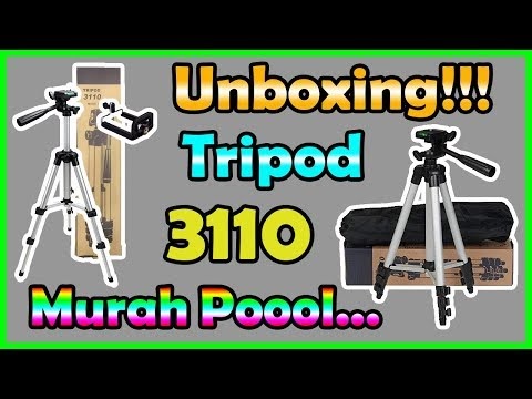 Unboxing (50k) Tripod 3110 For Smartphone (HP), Action Cam, Digital Cam, & Mini Camera