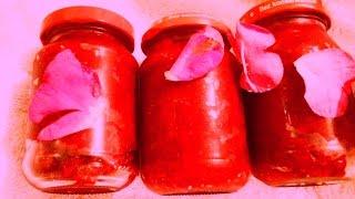 Konfitura płatki z dzikiej róży część 2