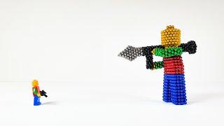 Lego VS Magnetic balls 레고vs네오큐브