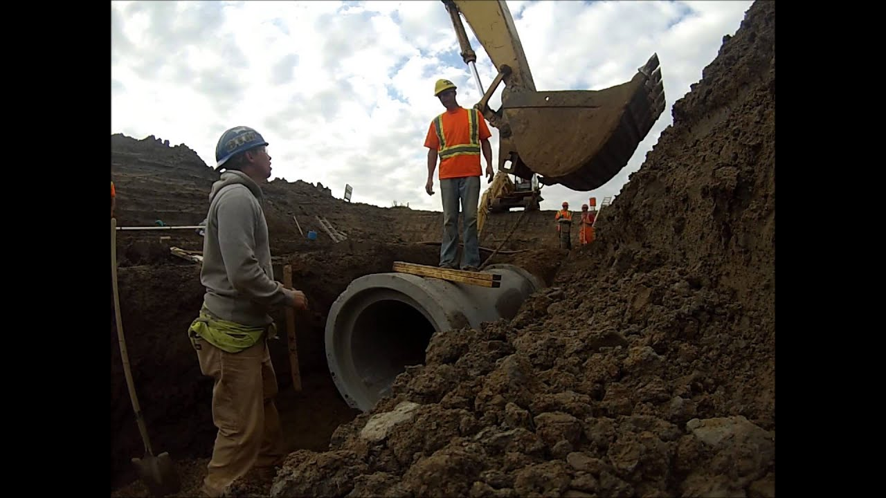 Installing Concrete Storm Pipe Gopro Youtube