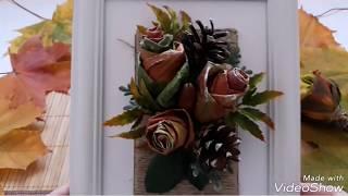 МК Розы из кленовых листьев/ И Идеи их применения.