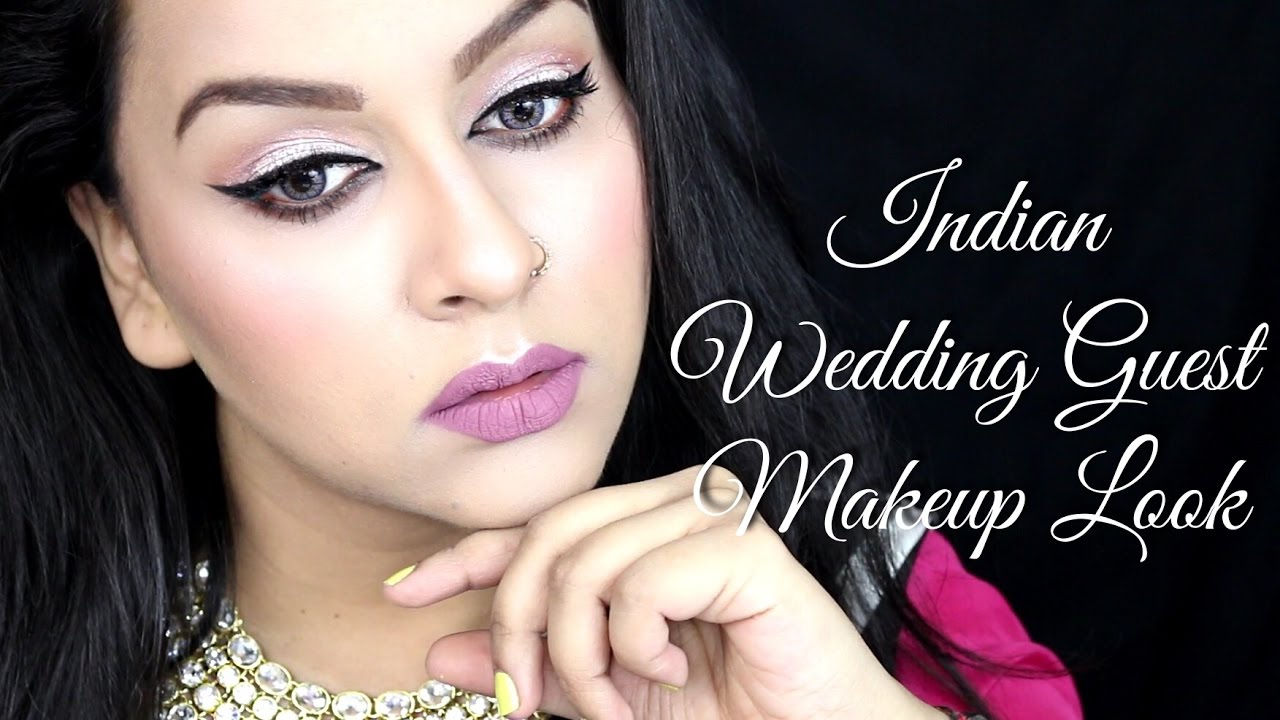 Indian Wedding Guest Makeup Look   SaloniMaathur - YouTube