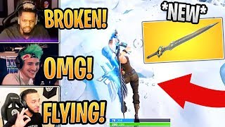 Streamers First Time Using *NEW* Infinity Blade! (Melee Weapon) - Fortnite Best and Funny Moments