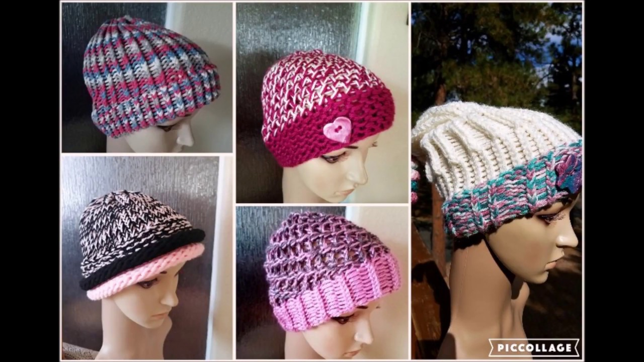 Summer Chemo Caps Loom Patterns   Yarn - YouTube 7e0cb99274c