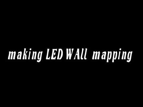 LED Wall mapping for office demo