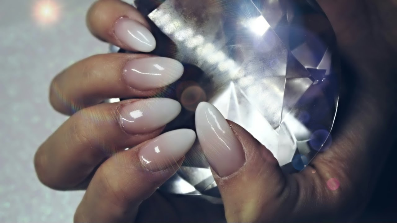 Baby Boomer Acrylic Nails French Ombre Nail Design Application