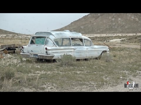 ABANDONED GHOSTBUSTERS CAR IN THE DESERT