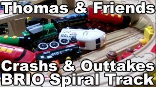 Thomas And Friends - Brio Wooden Railway System - Crash & Outtakes Spiral Track / Brio Holzeisenbahn